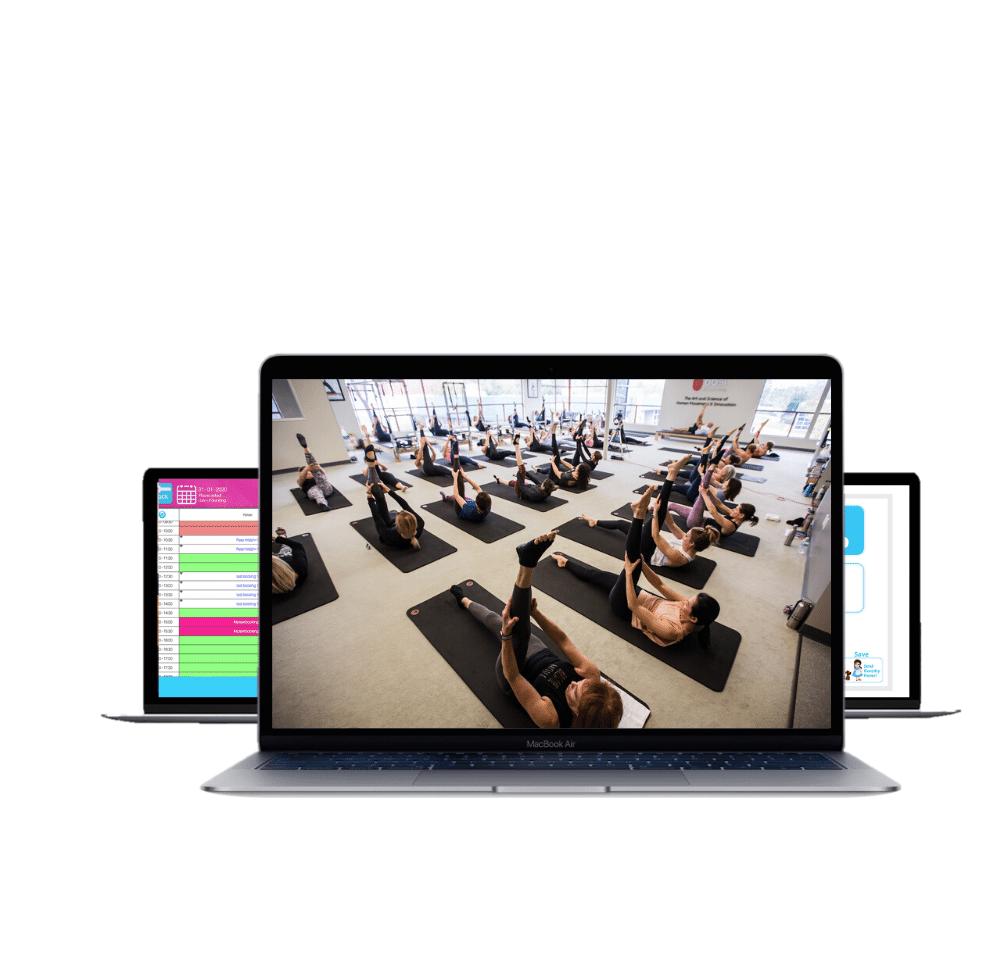 photo displaying pilates