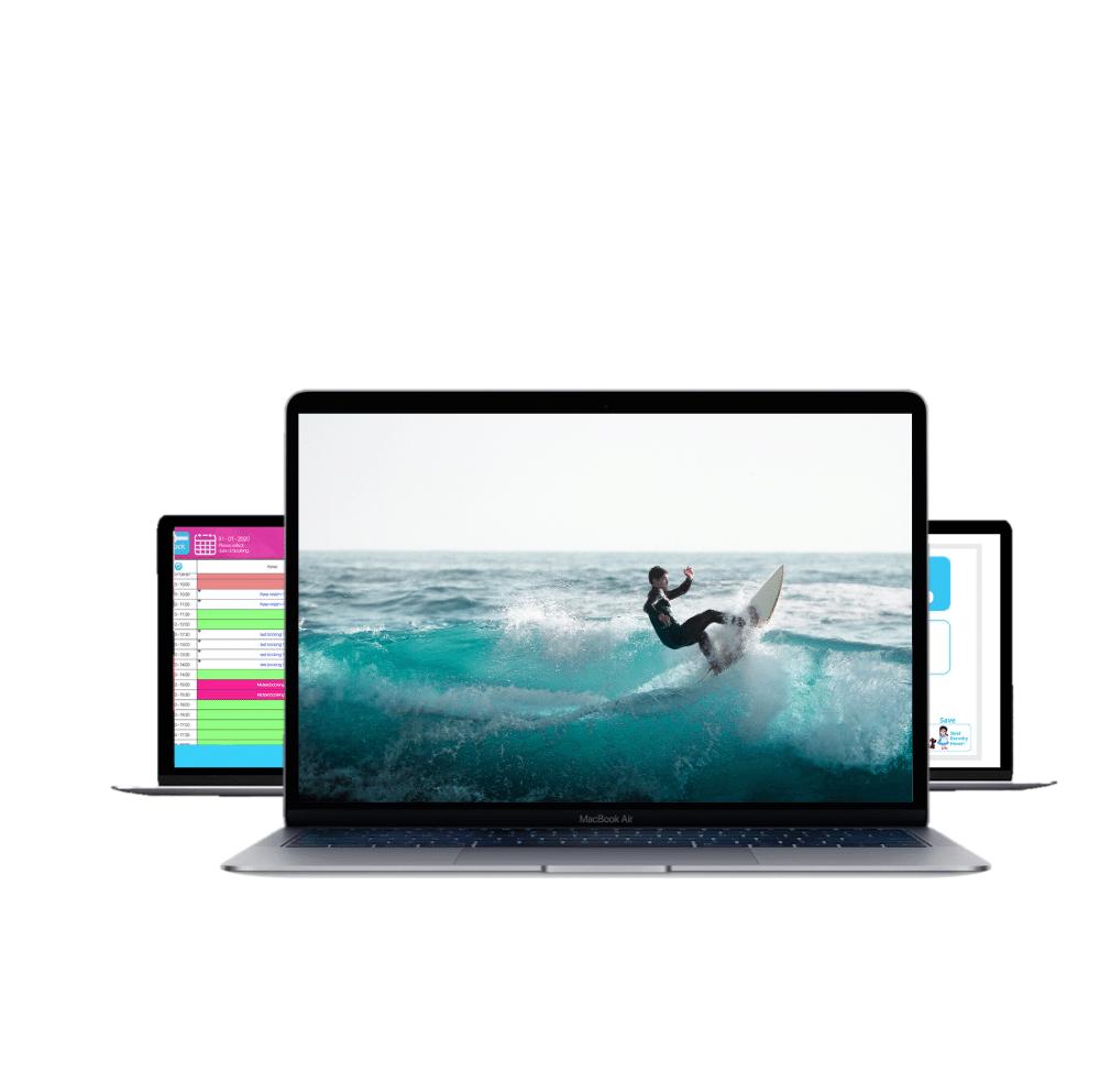 photo displaying surfing