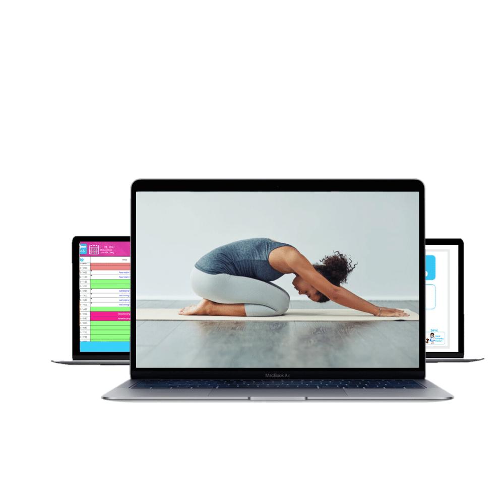 photo displaying yoga